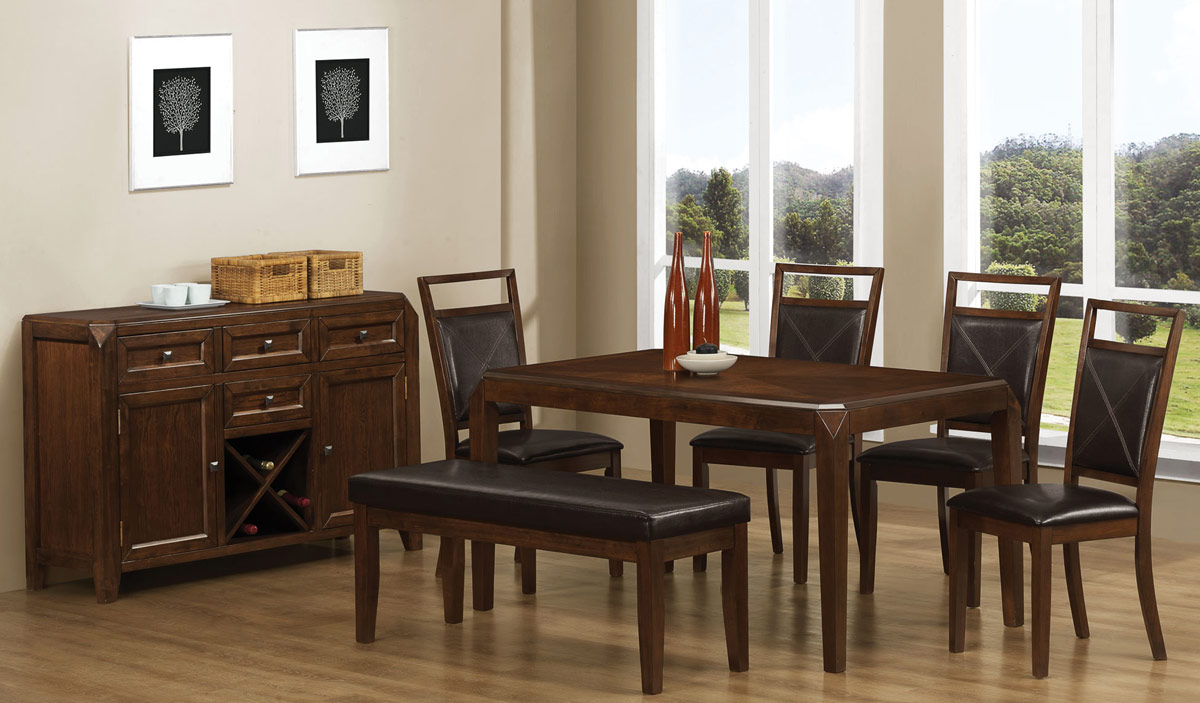 Coaster Davina Dining Set - Dark Oak