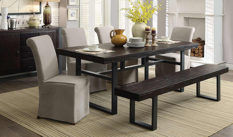 Coaster Keller Rectangular Dining Set - Reclaimed Wood