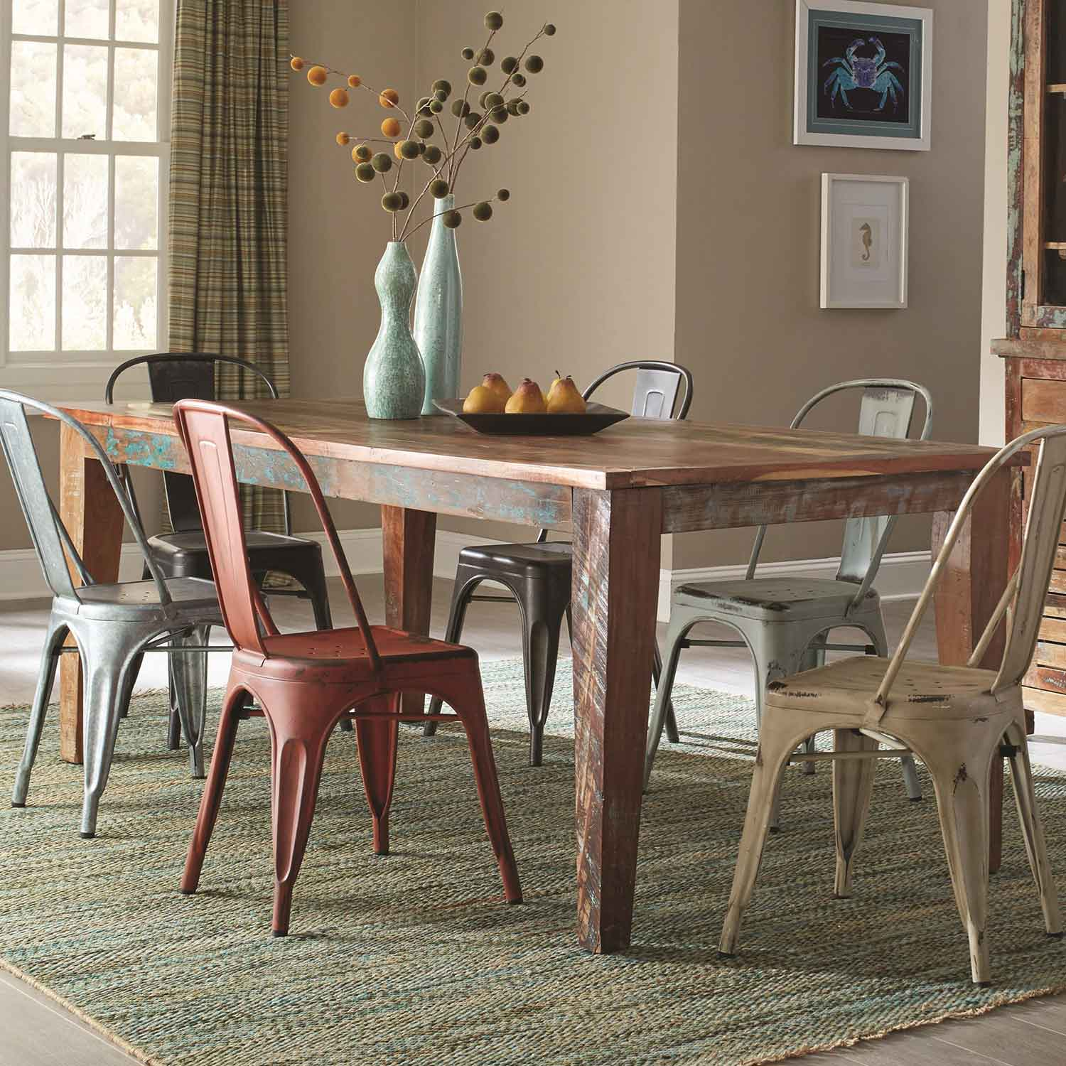 Coaster Keller Rectangular Dining Set MultiColor KELLER180161
