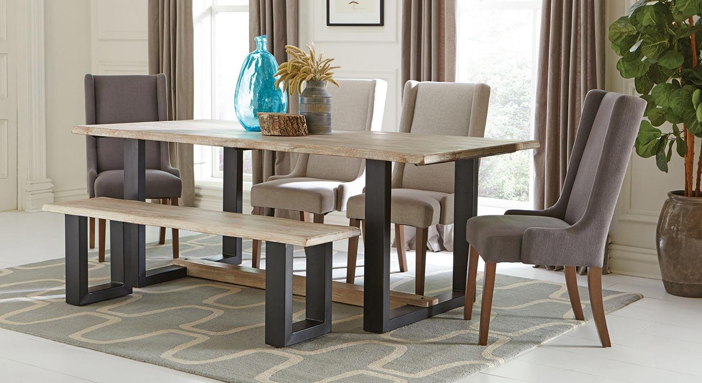 Coaster Levine Rectangular Dining Set - Weathered Grey