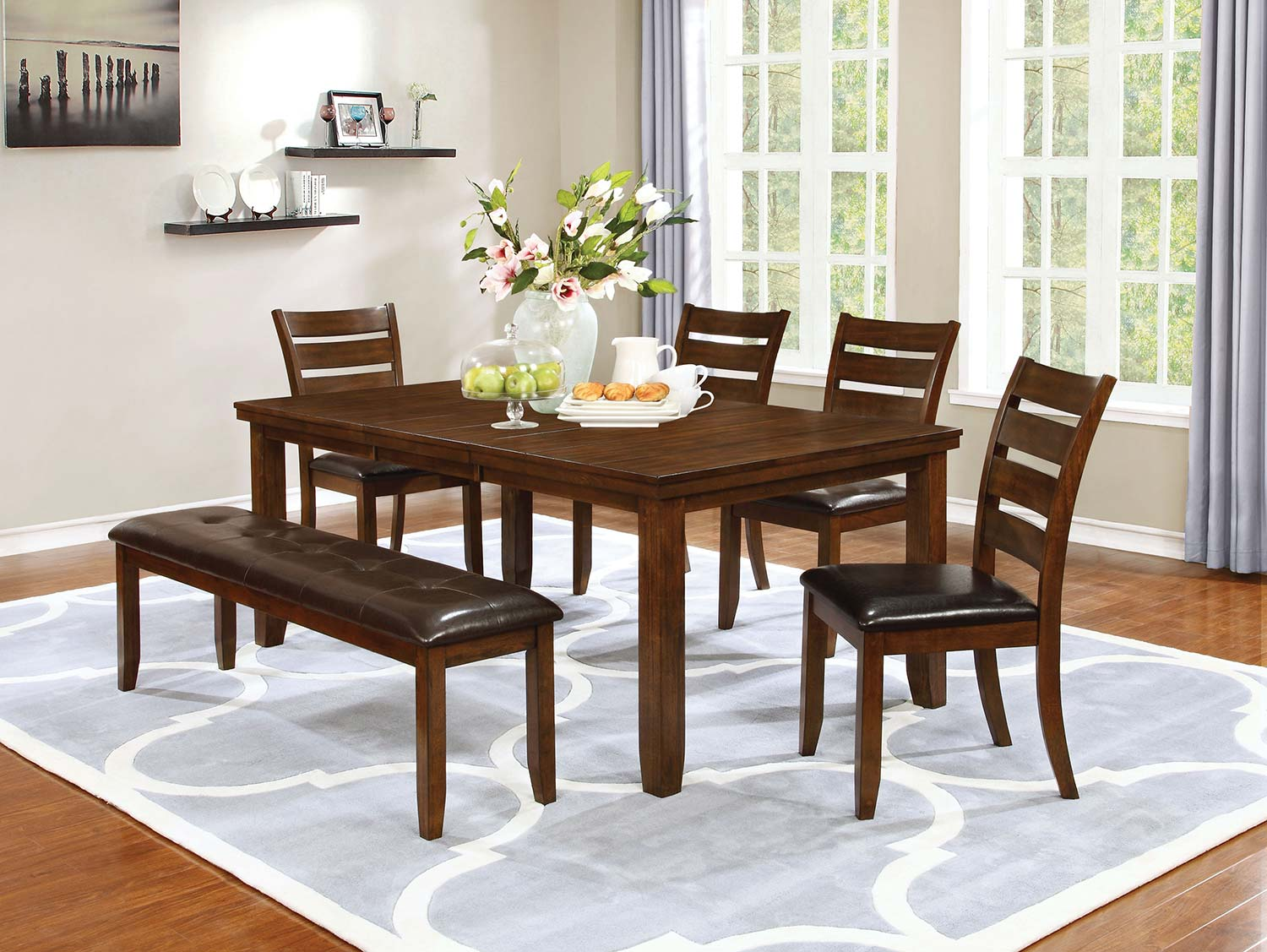 Coaster Maxwell Rectangular Dining Set - Golden Brown