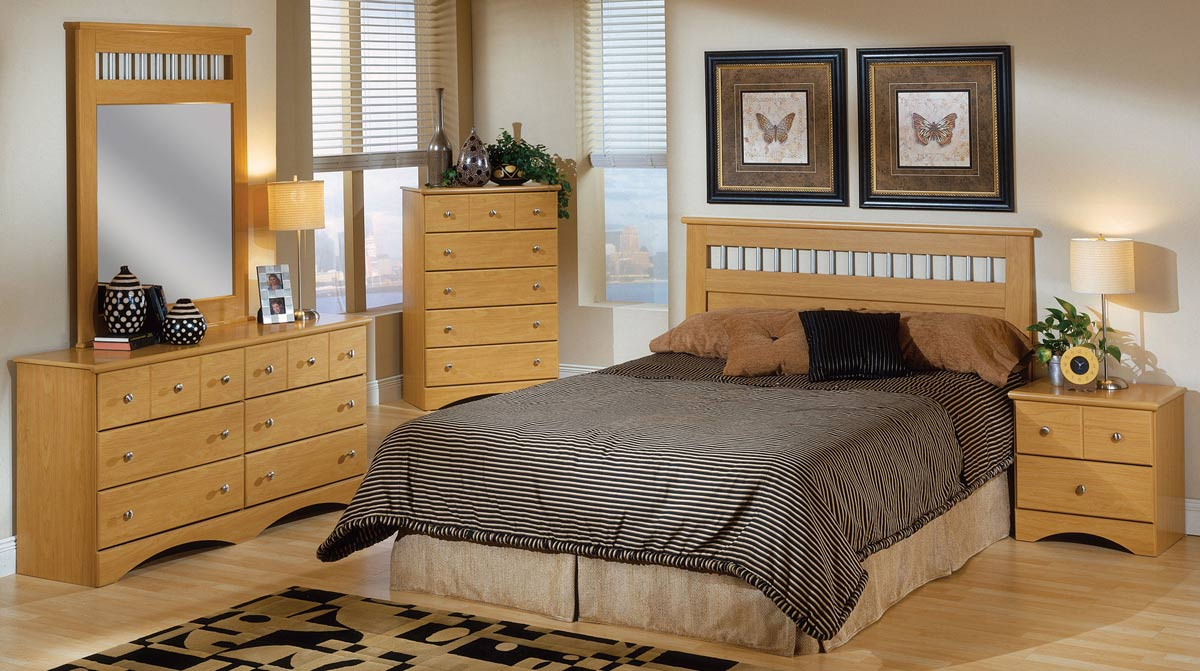 Coaster Nash Bedroom Set - Maple
