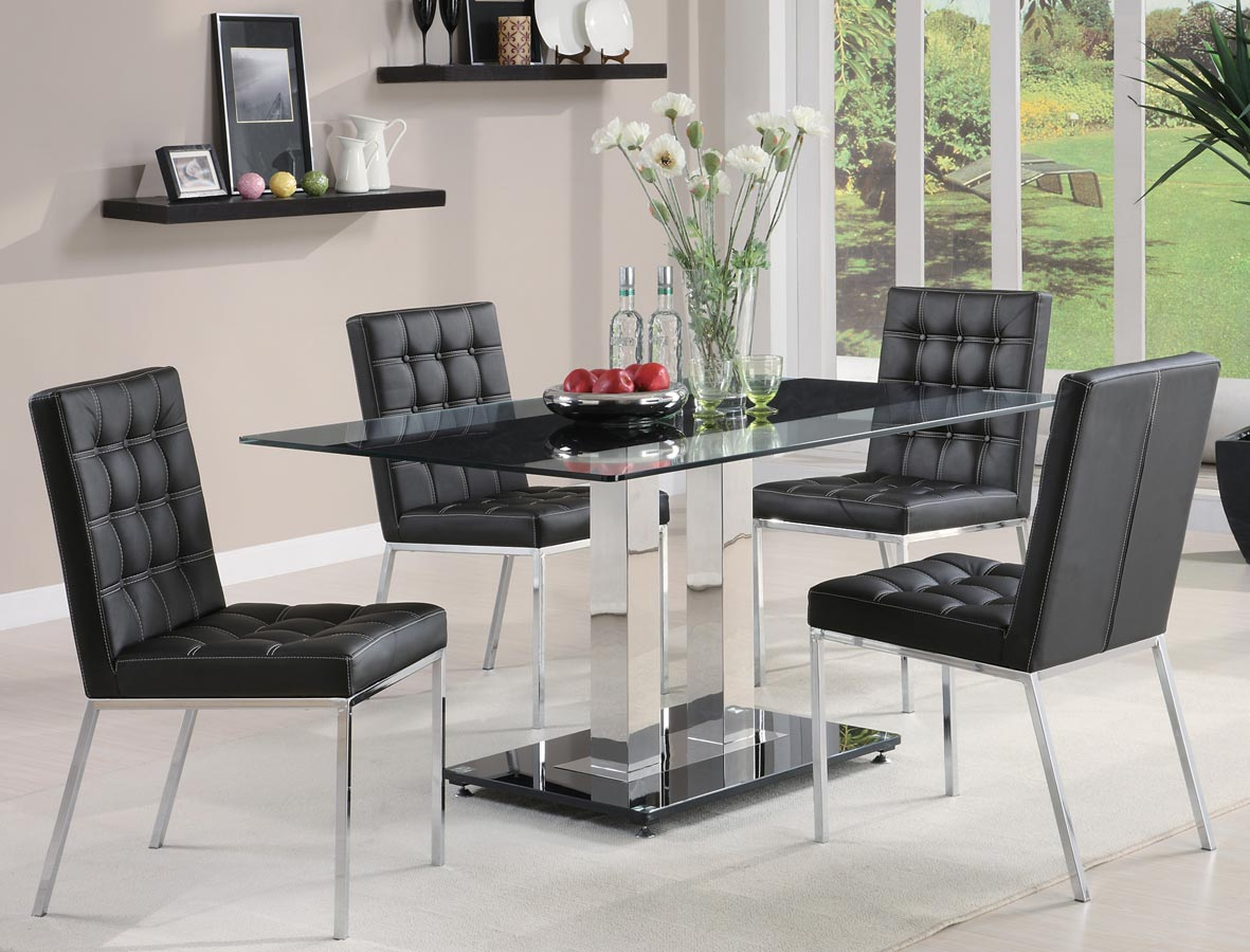 Coaster Rolien Chrome Dining Set