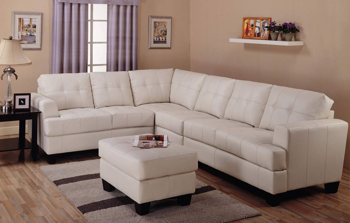 Coaster Samuel Sofa Sectional Set - Cream