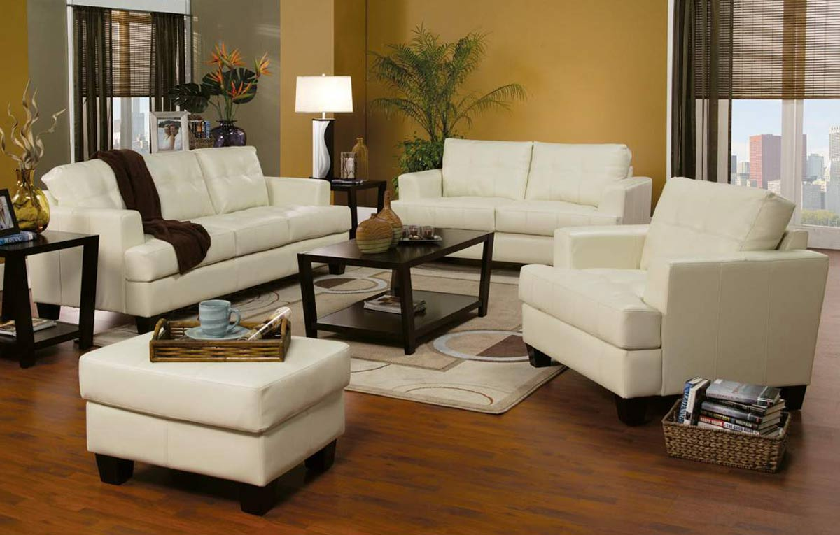 Coaster Samuel Sofa Set - Cream