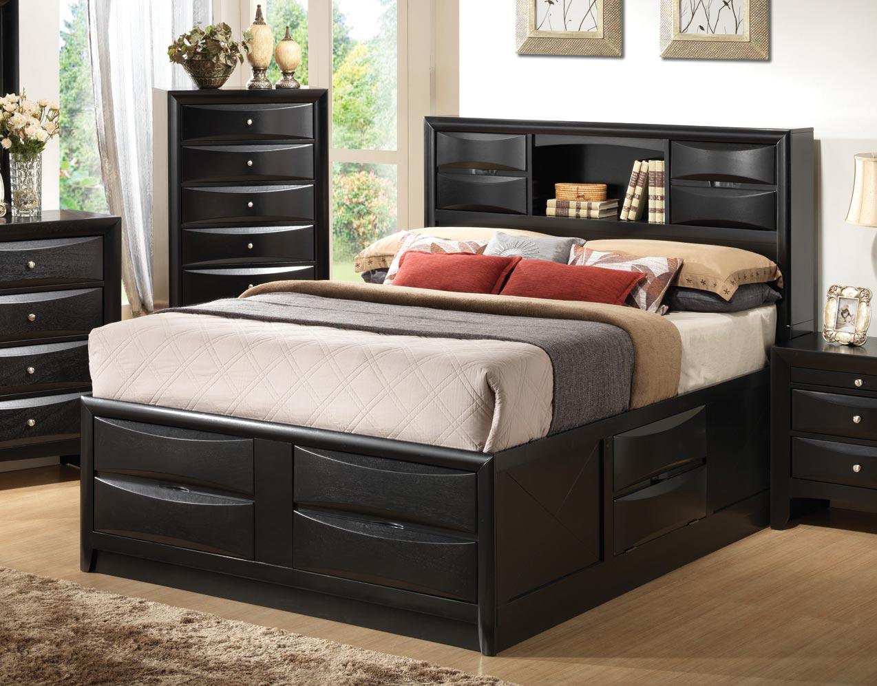 Coaster Briana Bookcase Storage Bed - Black