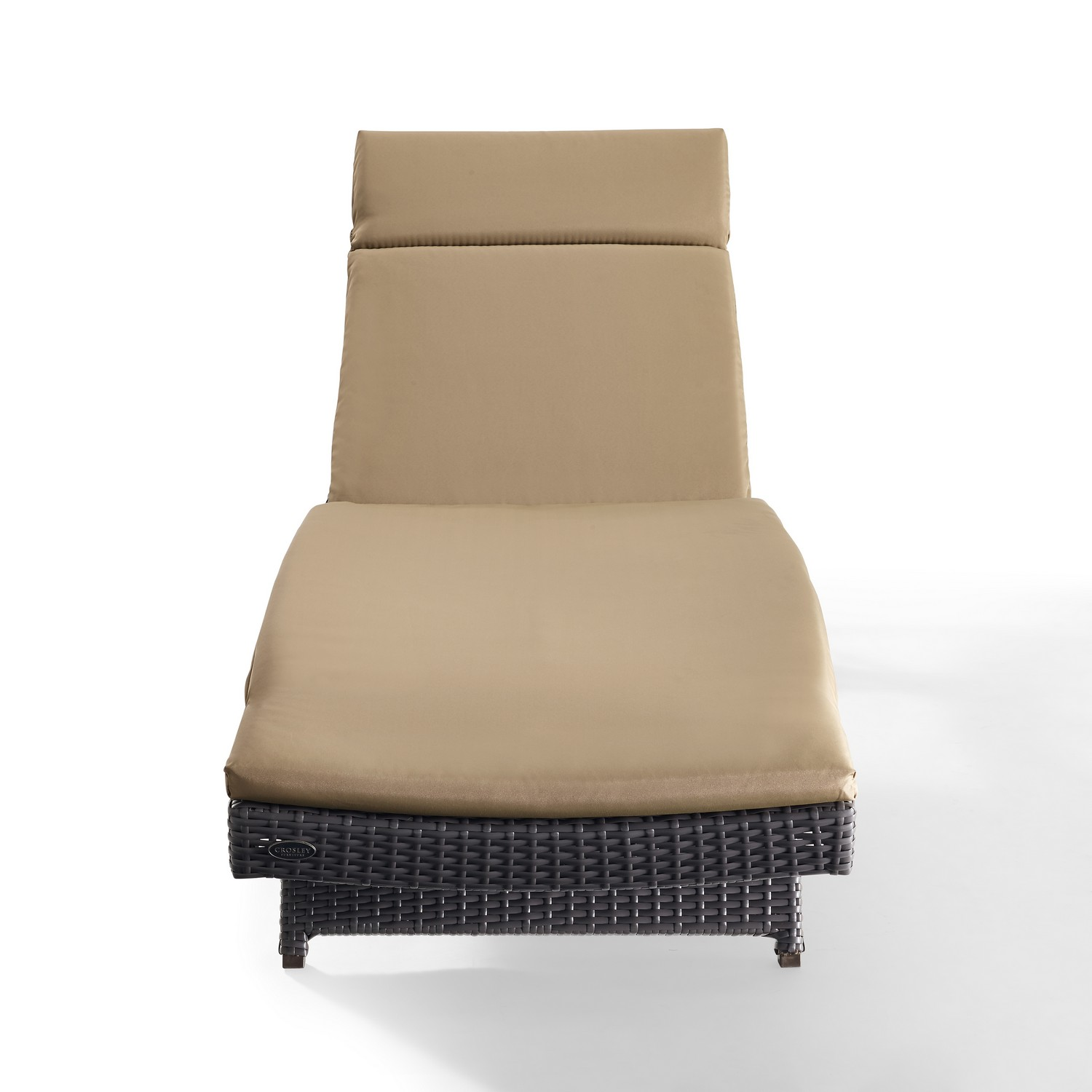Crosley Biscayne Outdoor Wicker Chaise Lounge - Mocha/Brown