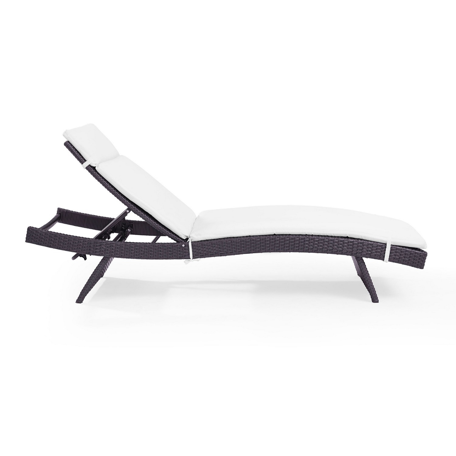 Crosley Biscayne Outdoor Wicker Chaise Lounge - White/Brown