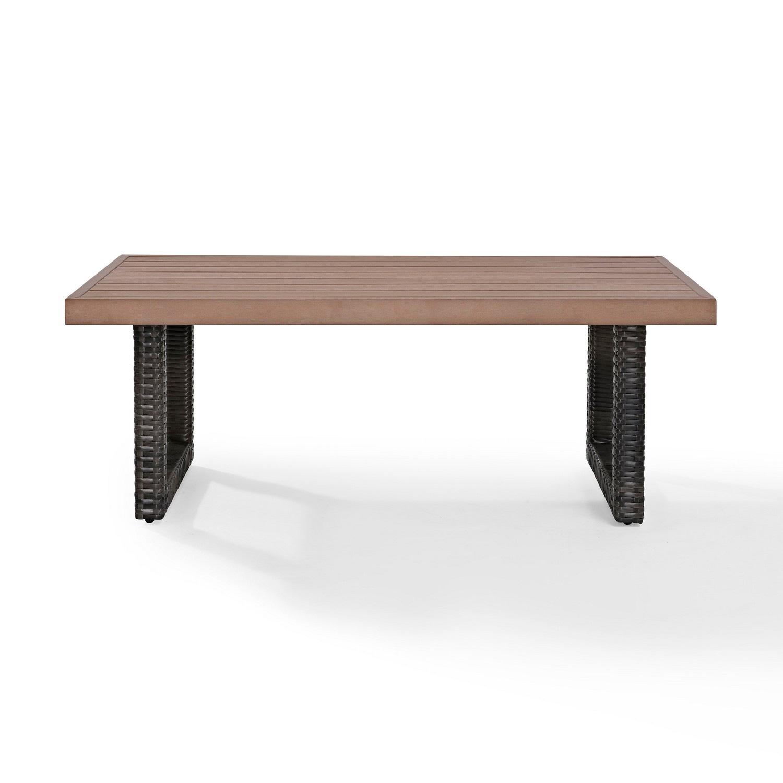 Crosley Beaufort Outdoor Wicker Coffee Table - Mist/Brown