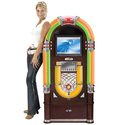Cheap Crosley Digital Jukebox-Mahogany Cabinet