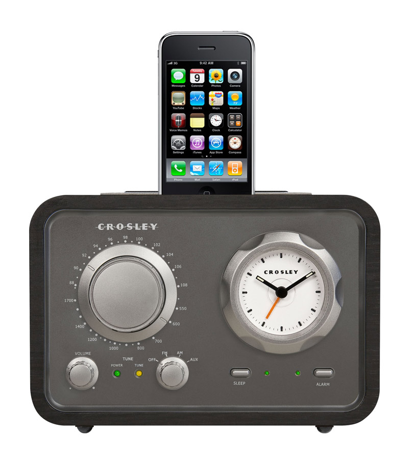 Crosley iDuet Tabletop Radio -Black