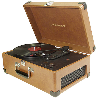 Crosley Traveler Turntable-Tan