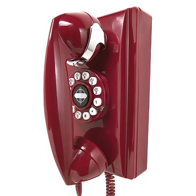 Crosley 302 Wall Phone-Red
