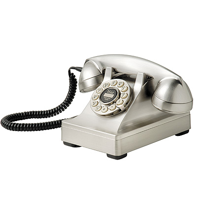 Crosley 302 Desk Phone-Brushed Chrome - Crosley
