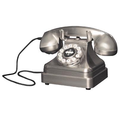 Crosley Kettle Classic Desk Phone-Brushed Chrome