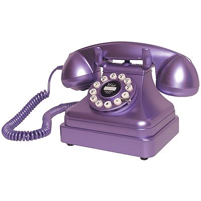 Crosley Kettle Classic Desk Phone-Purple
