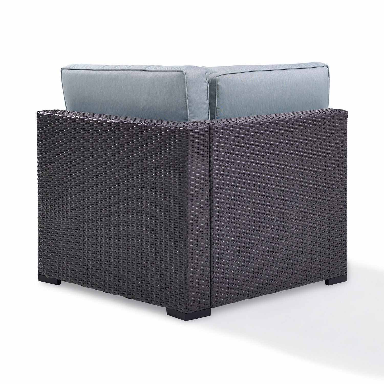 Crosley Biscayne Outdoor Wicker Corner Chair - Mist/Brown