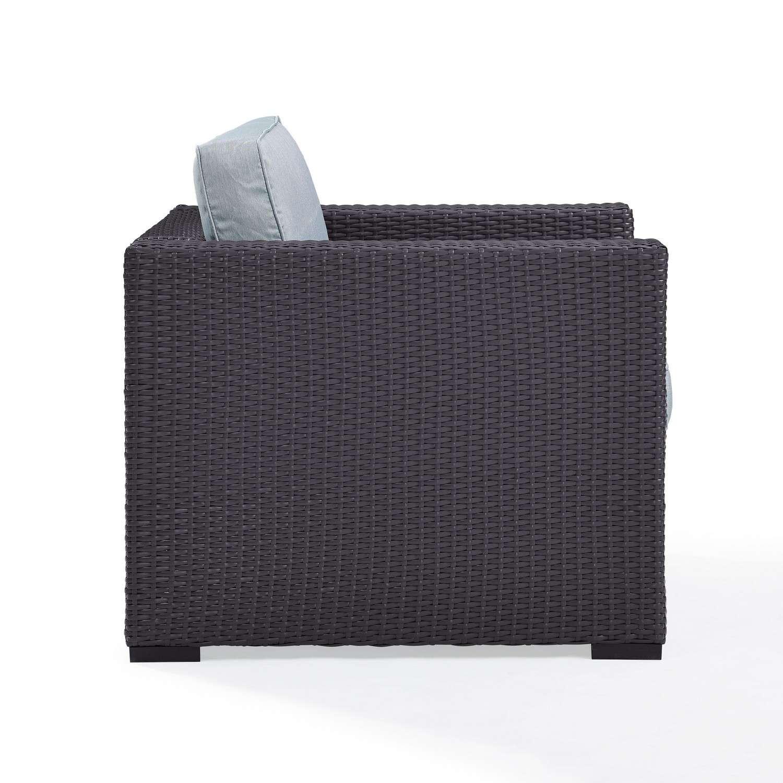 Crosley Biscayne Outdoor Wicker Armchair - Mist/Brown