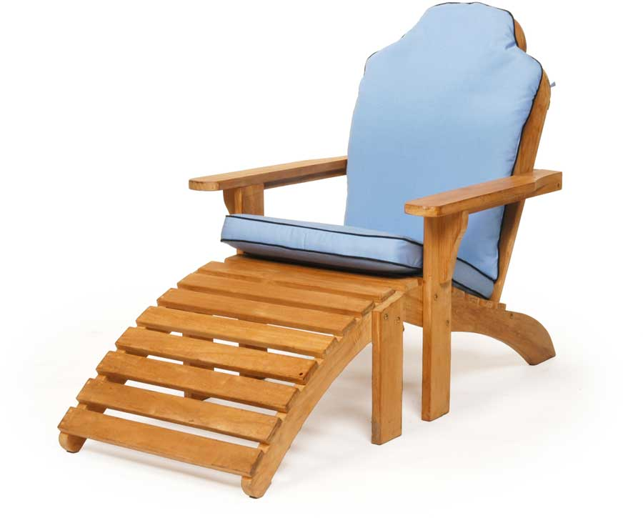 Caluco Teak Adirondak Chair with Ottoman