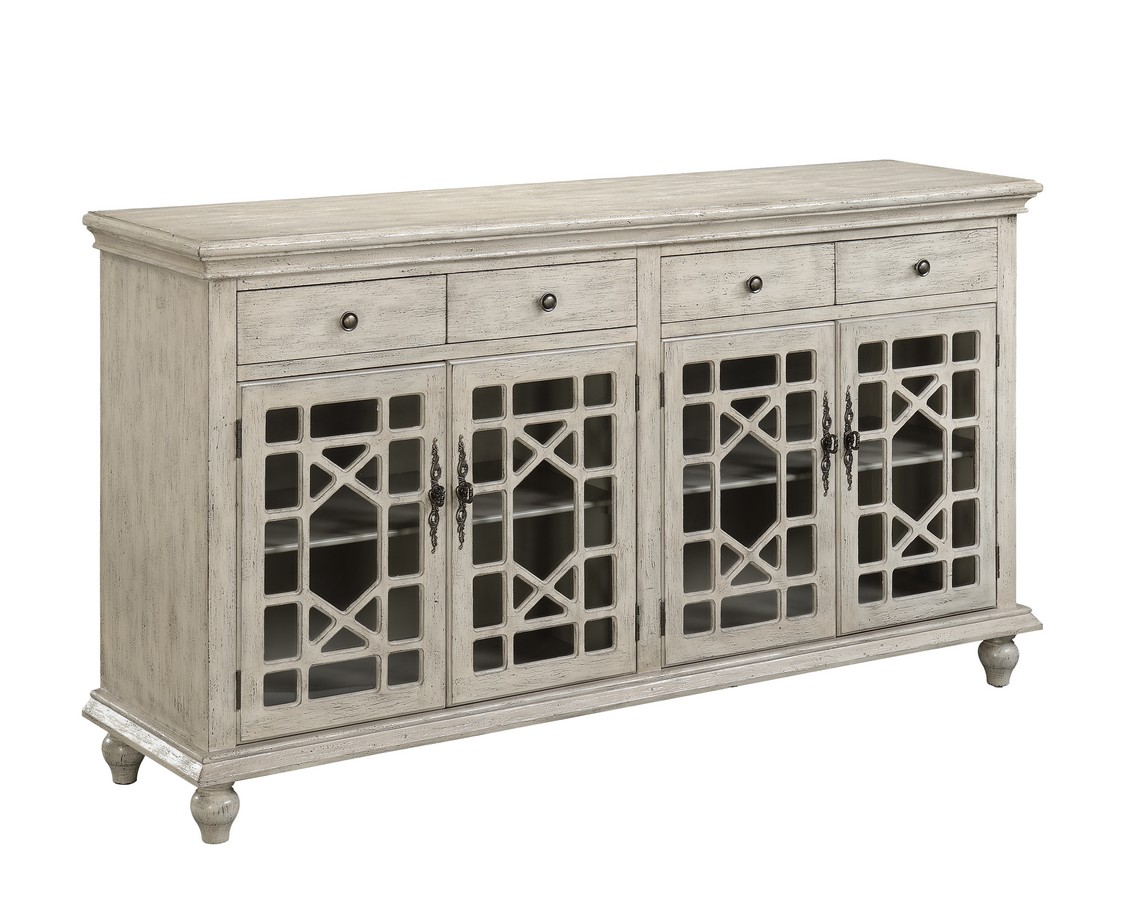 Coast To Coast 70828 Four Door Four Drawer Media Credenza