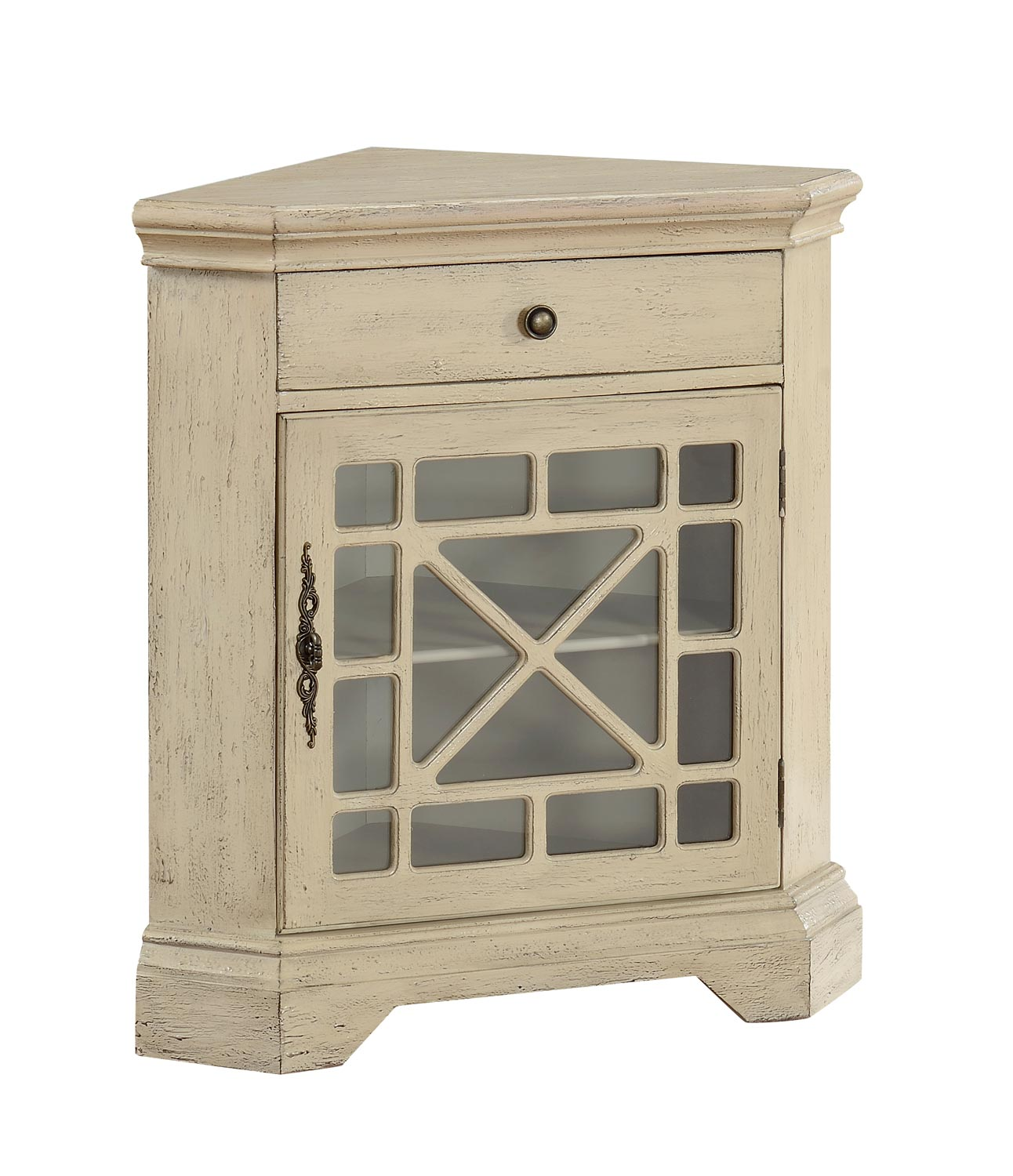Coast to Coast 78698 One Drawer With One Door Corner Cabinet