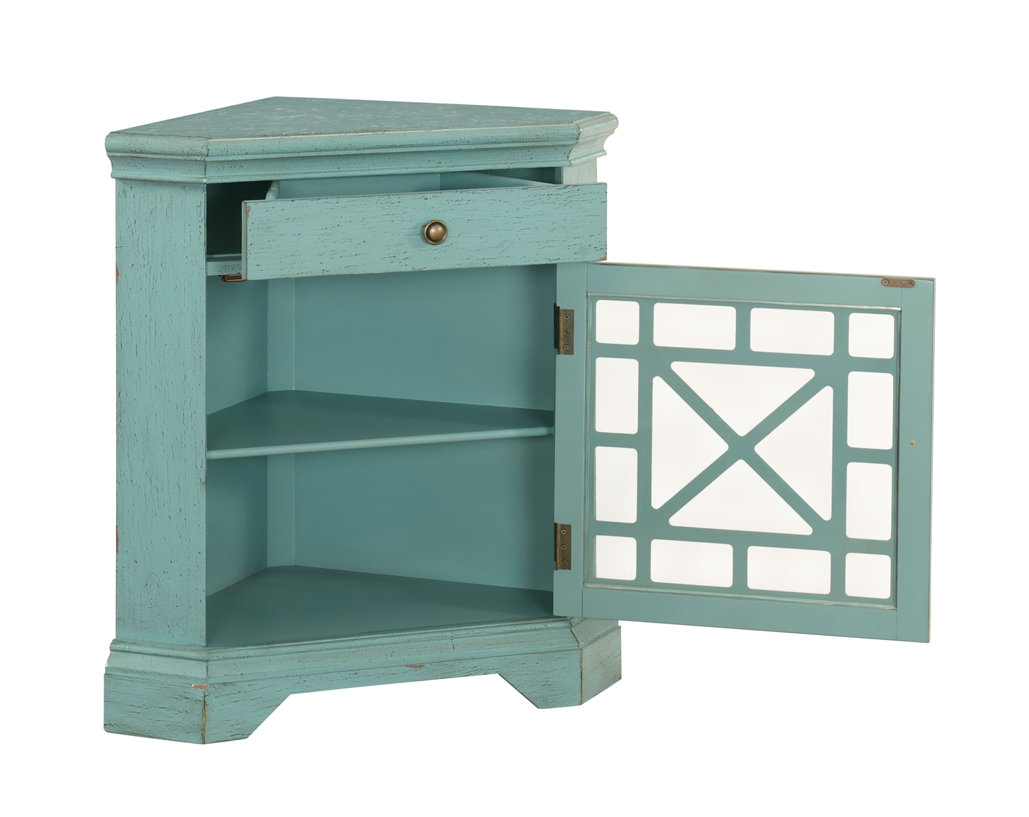 Coast to Coast 78699 One Drawer With One Door Corner Cabinet