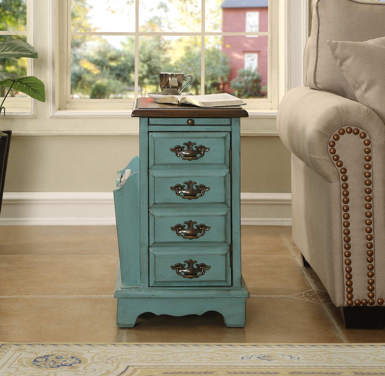 Coast to Coast 78702 One Door Pull Out Tray Magazine Cabinet