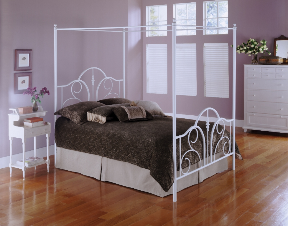 Fashion Bed Group Contour Canopy Bed in White