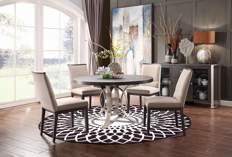 Homelegance Standish Round Dining Set - Gray