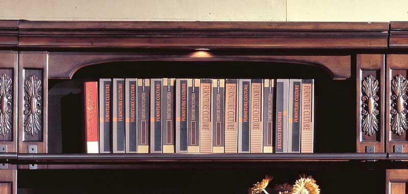 Parker House DaVinci 48in Bookcase Bridge Shelf Back Panel