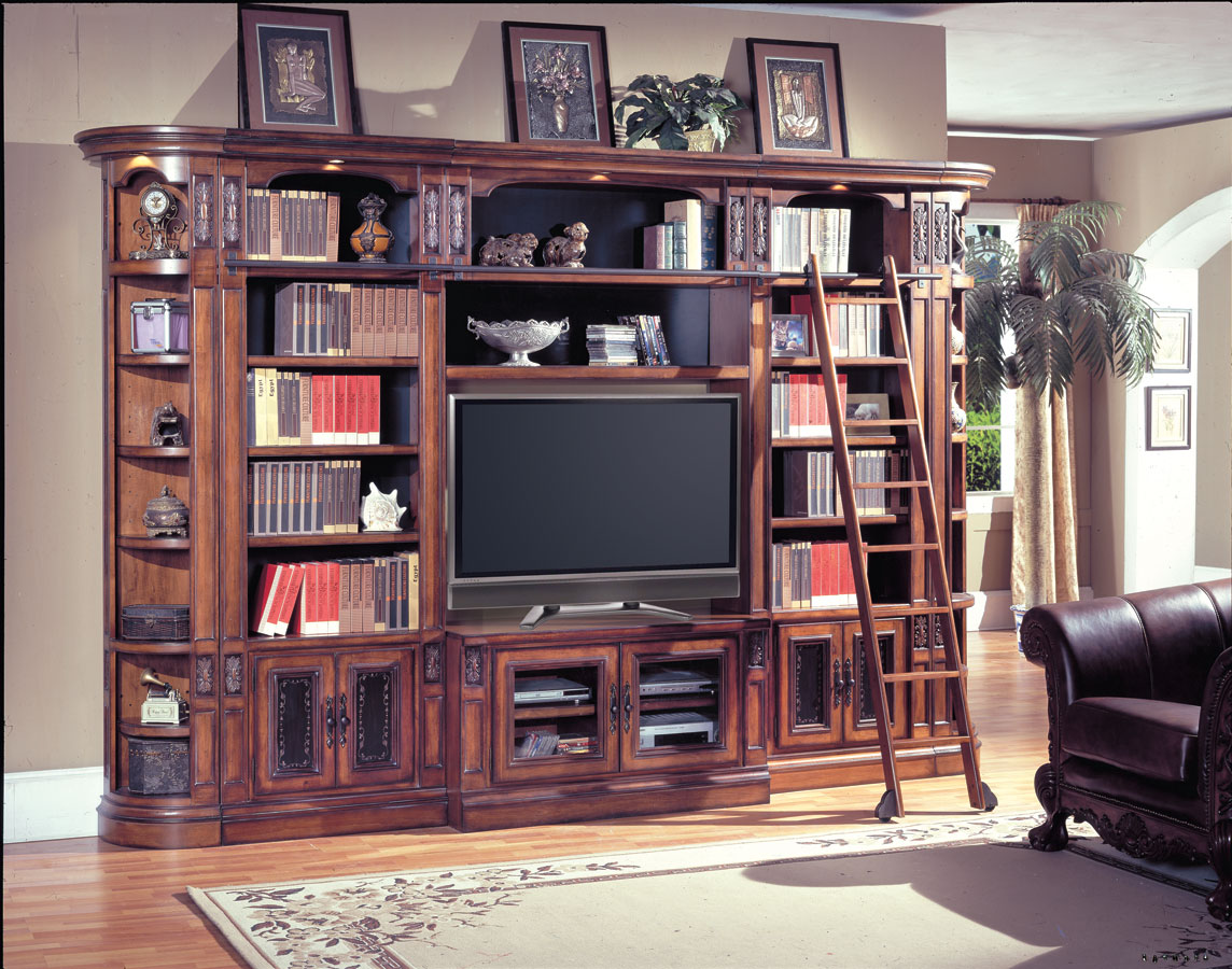 Parker House DAV412 450 7 DaVinci Library Entertainment Center   60in