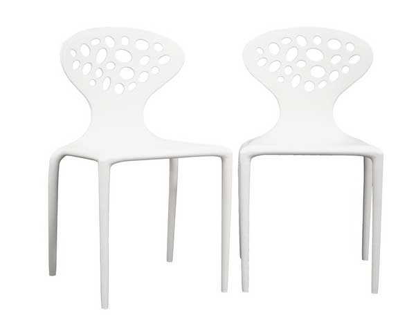 Wholesale Interiors DC-317 White Accent Chair