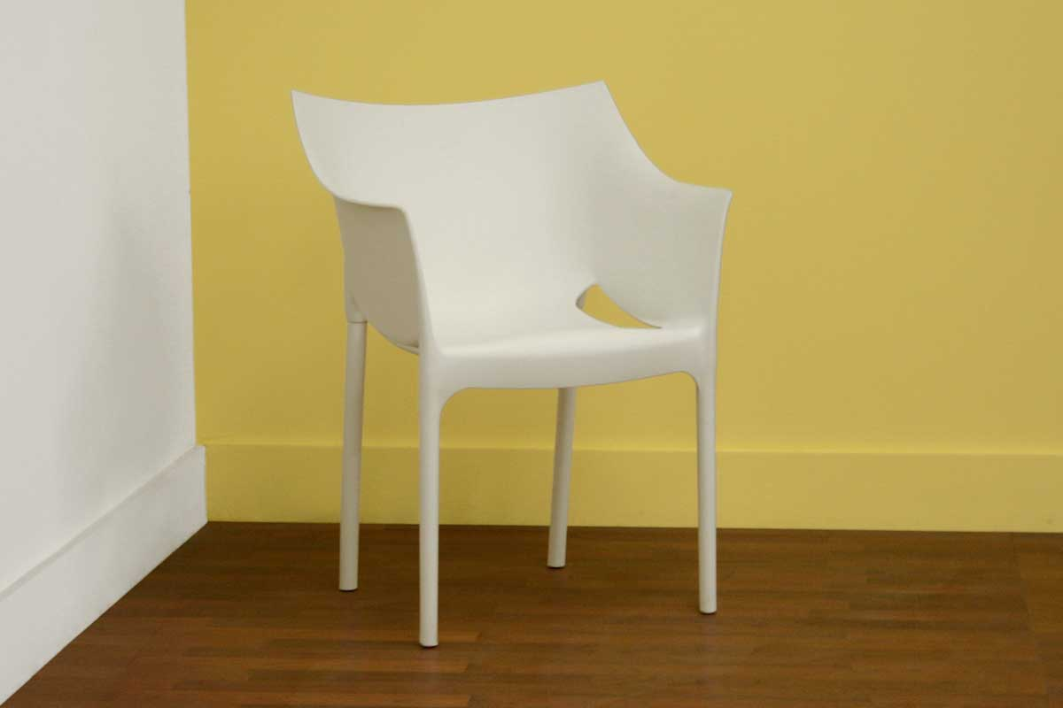 Wholesale Interiors DC-58 White Accent Chair