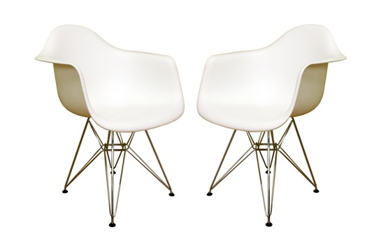 Wholesale Interiors DC-622C White Accent Chair