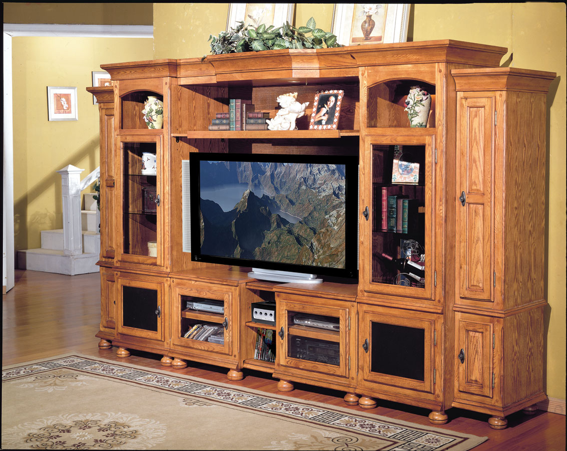 Cheap Parker House Deer Creek 6 pc Entertainment Center