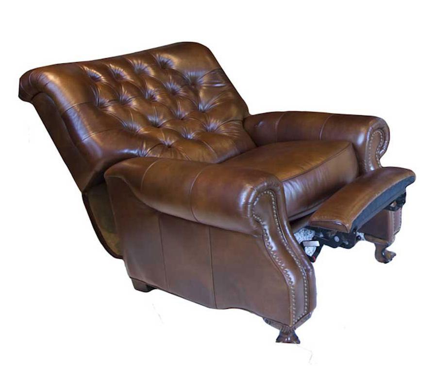 ELEMENTS Fine Home Furnishings Georgian Top Grain Leather Reclining Chair - Rustic