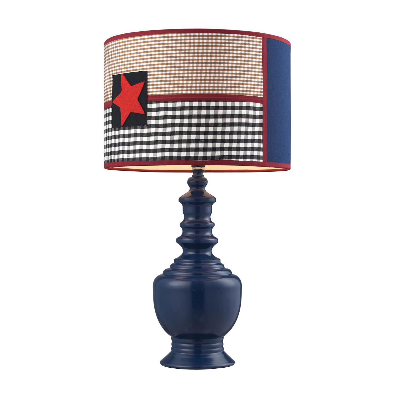 elk 111 1116 111 1116 patriotic table lamp dark blue elk lighting. Black Bedroom Furniture Sets. Home Design Ideas