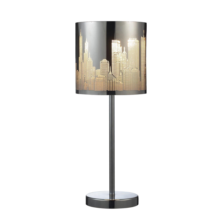Elk Lighting 31036/1 Skyline Table Lamp - Polished Stainless Steel