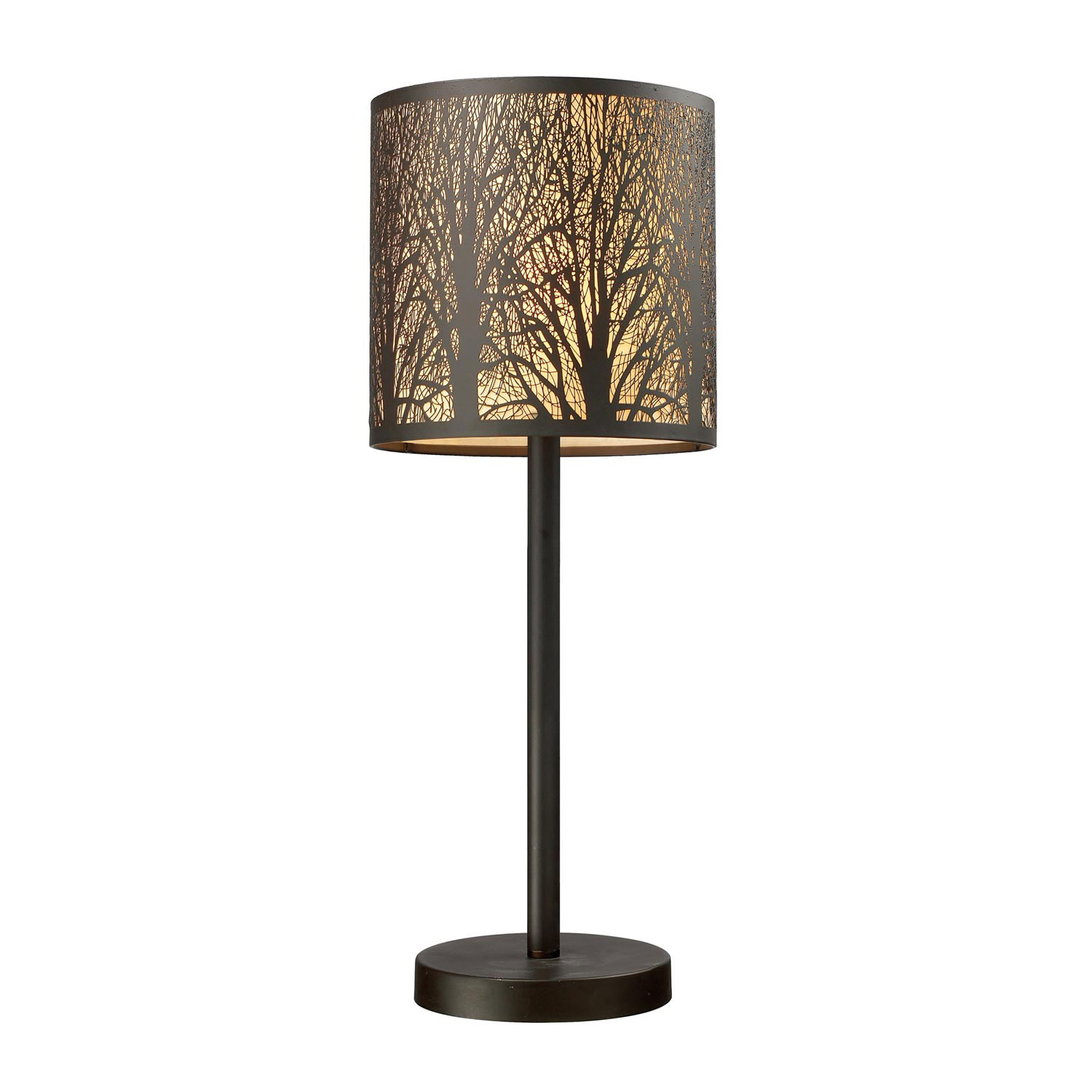 Elk Lighting 31072/1 Woodland Sunrise Table Lamp - Aged Bronze