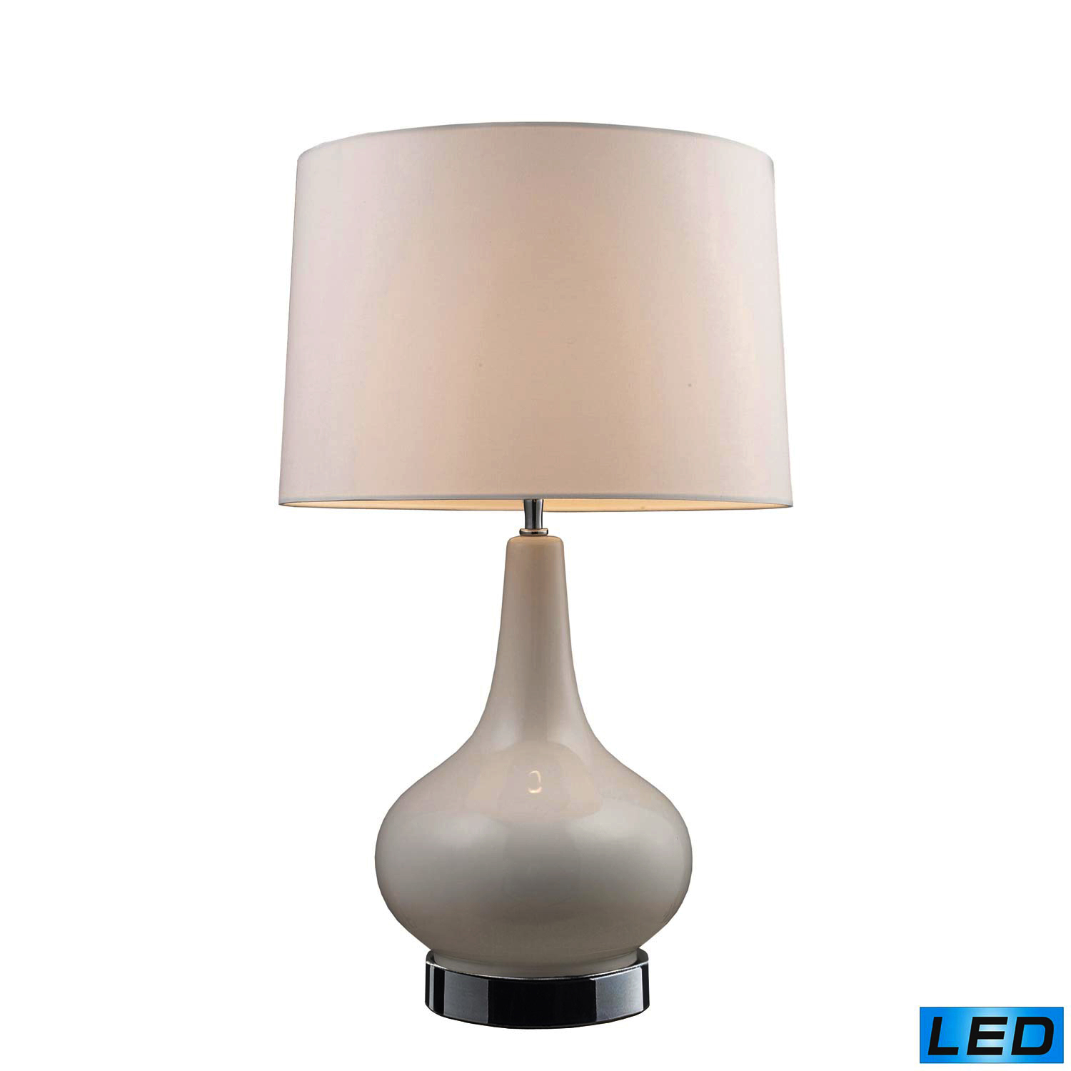Elk Lighting 3935/1 -LED Continuum Table Lamp - White and Chrome