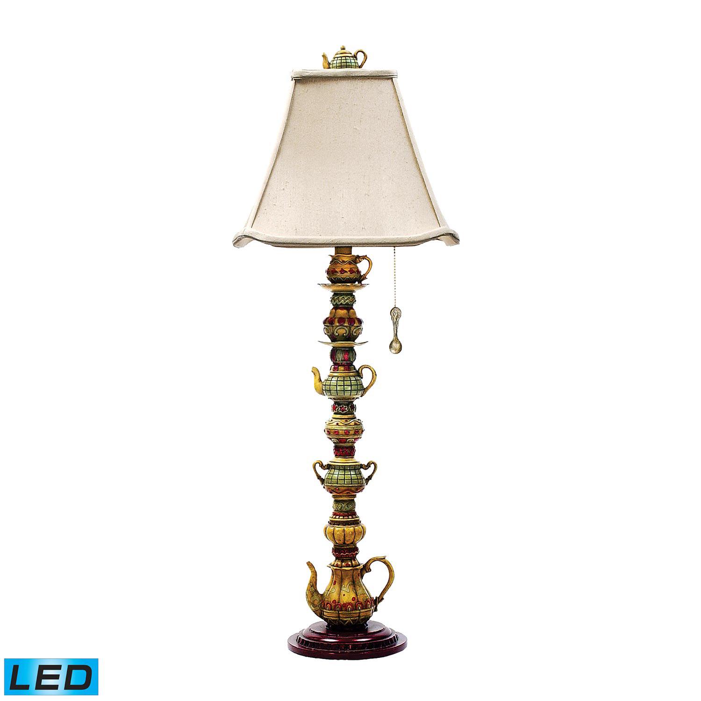 Elk Lighting 91-253-LED Tea Service Candlestick Table Lamp - Burwell