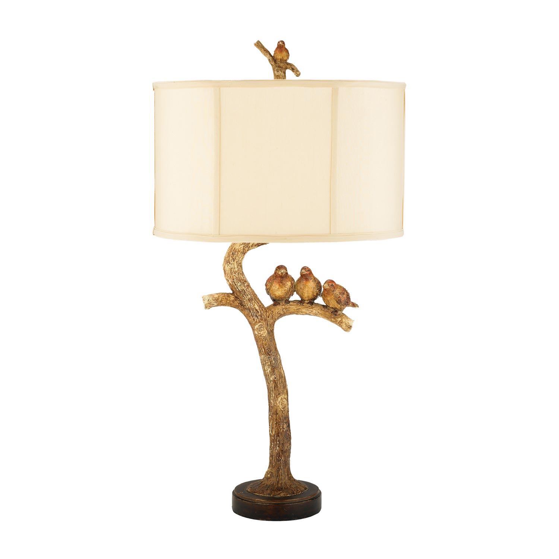 Elk Lighting 93-052 Three Bird Light Table Lamp - Gold Leaf / Black