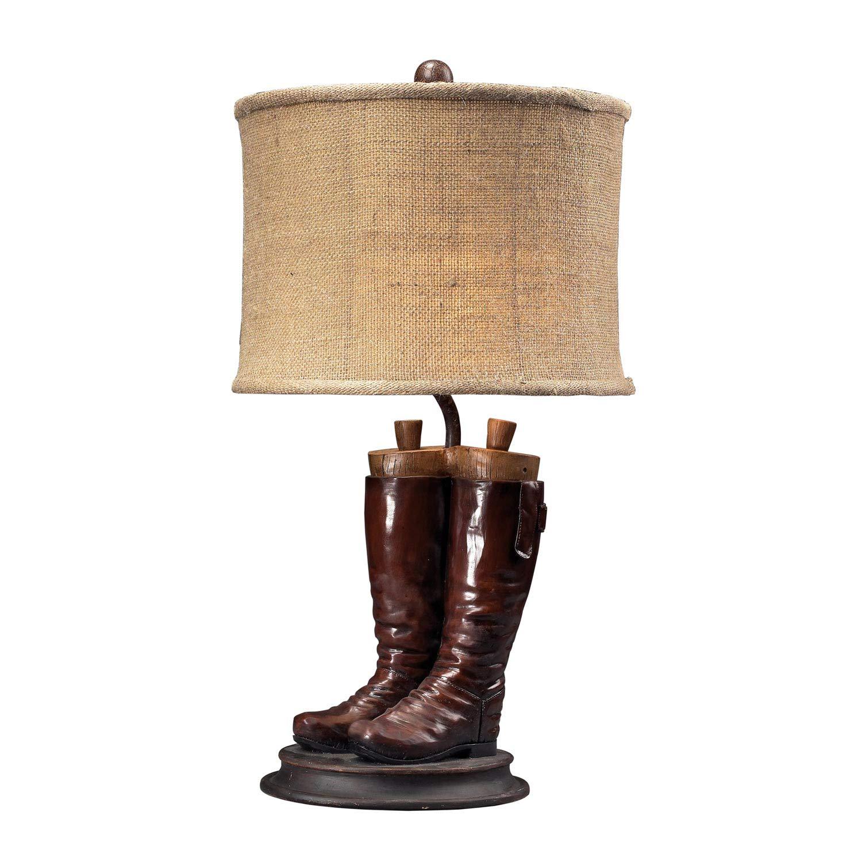 Elk Lighting 93-10012 Wood River Table Lamp - Polished Tan