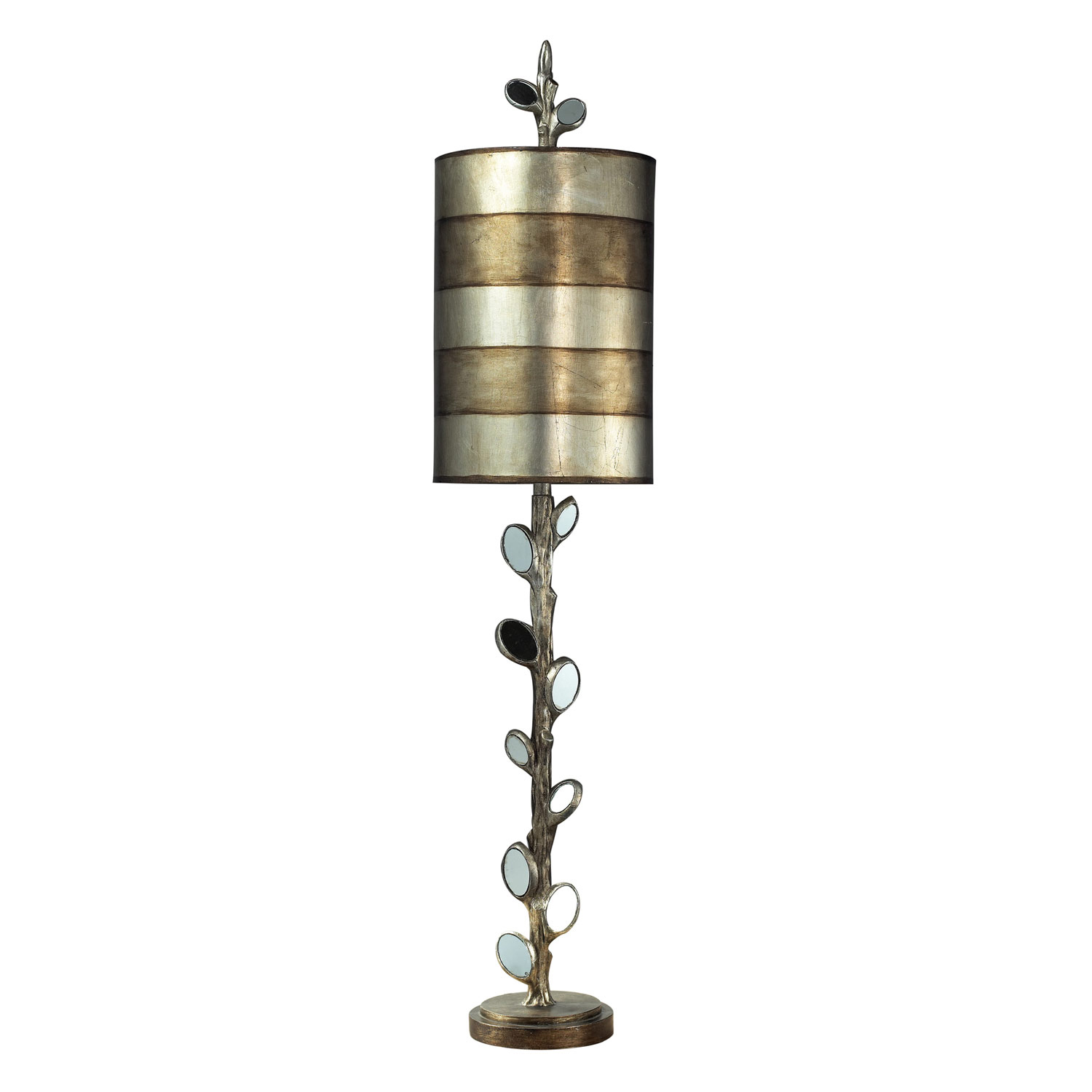 Elk Lighting 93-9111 Amherst Table Lamp - Mirror and Antique Silver