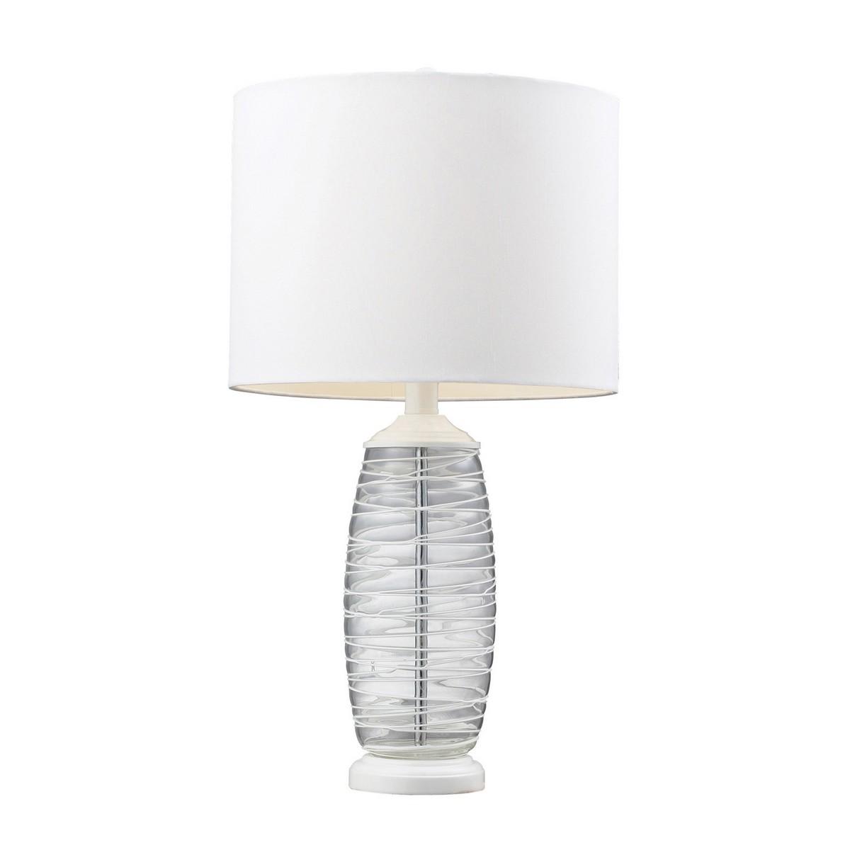 Elk Lighting D125 Table Lamp - Clear/White