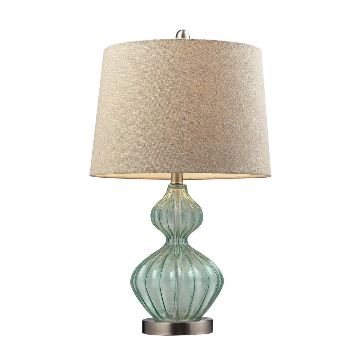 Elk Lighting D141 Table Lamp - Light Green Smoke