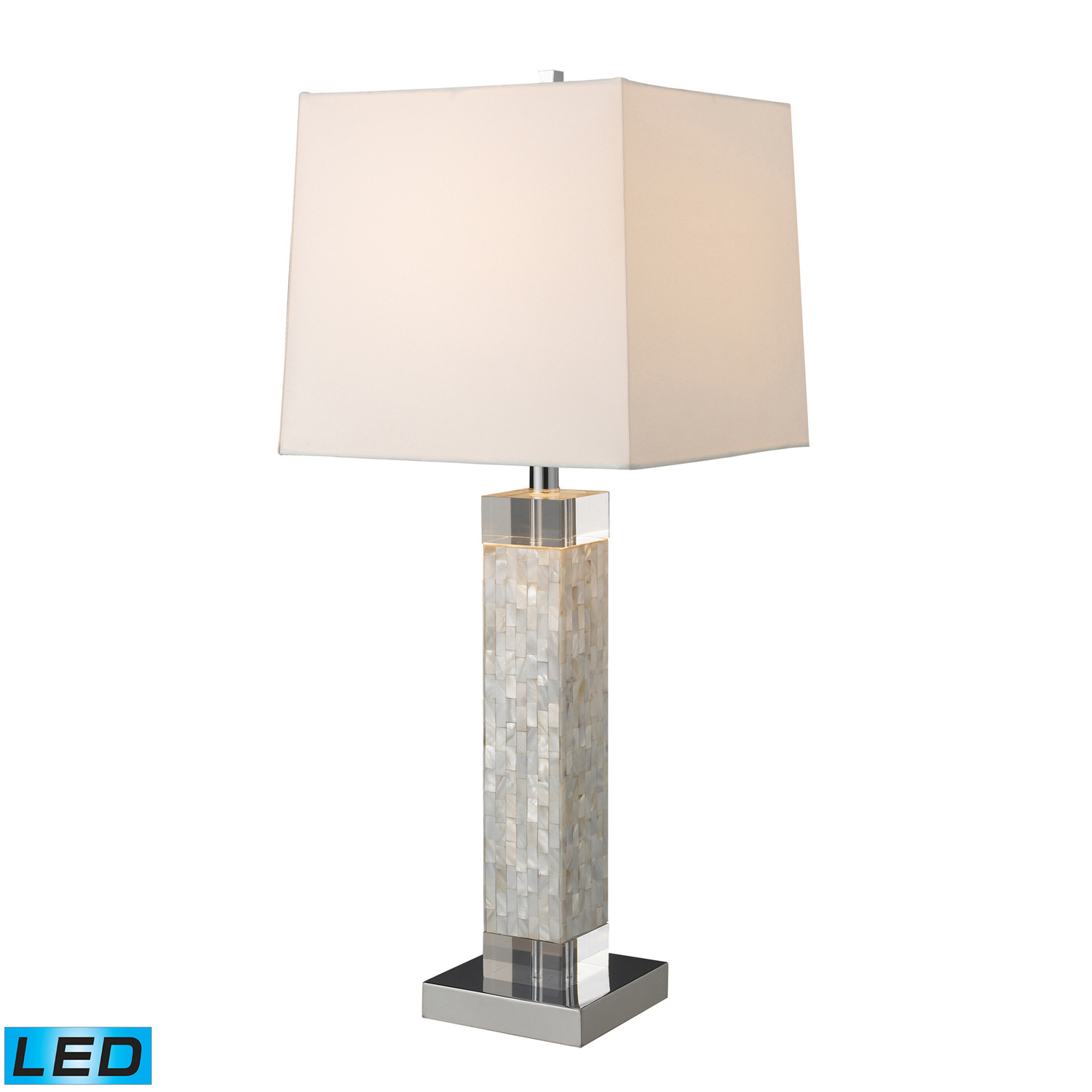 Elk Lighting D1412-LED Luzerne Table Lamp - Mother Of Pearl