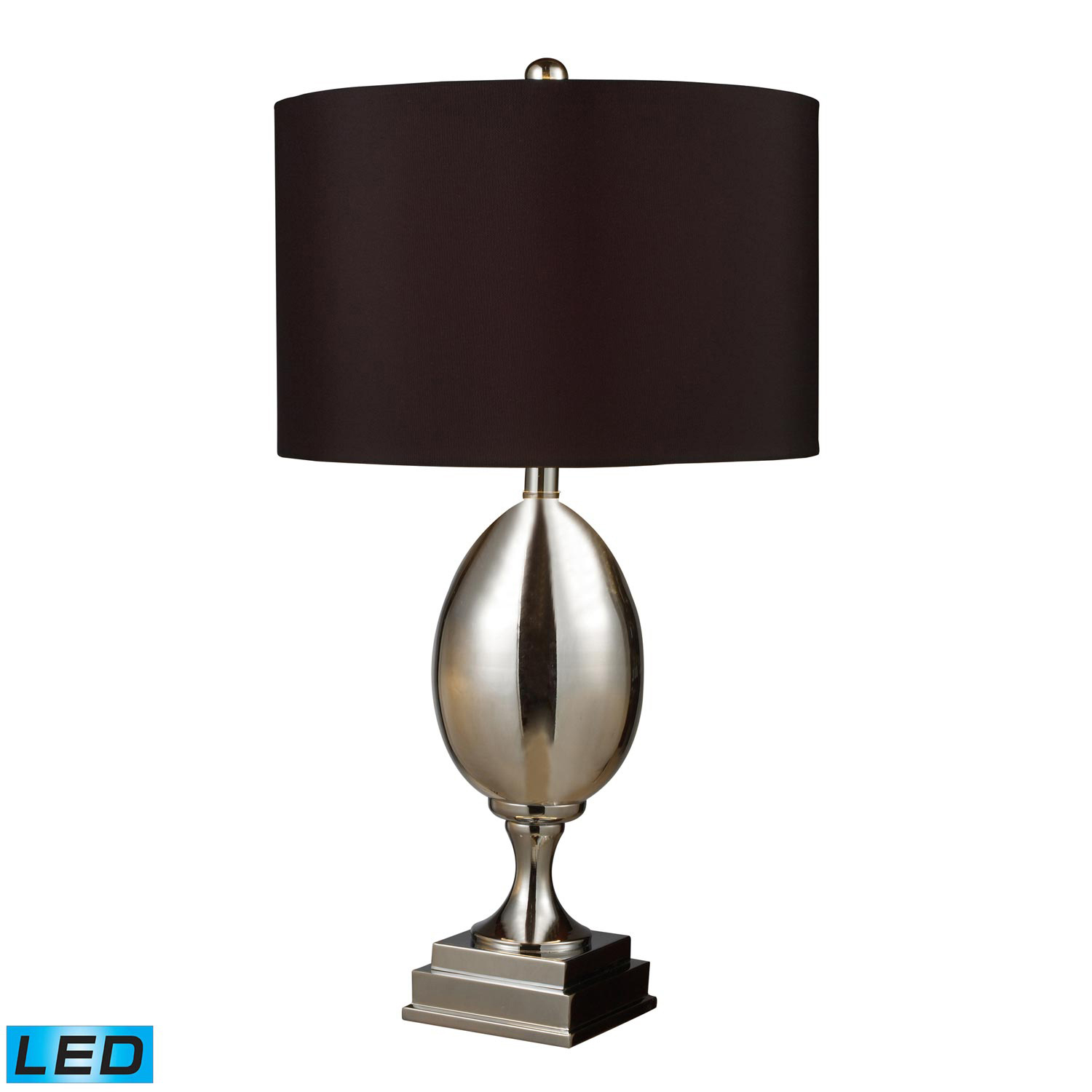 Elk Lighting D1426B-LED Waverly Table Lamp - Chrome Plated Glass