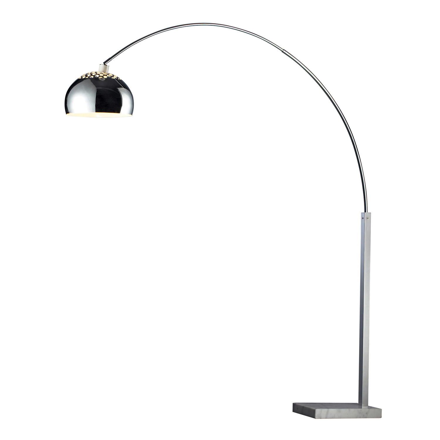 Elk Lighting D1428 Penbrook Floor Lamp - Silver Plated and White Marble