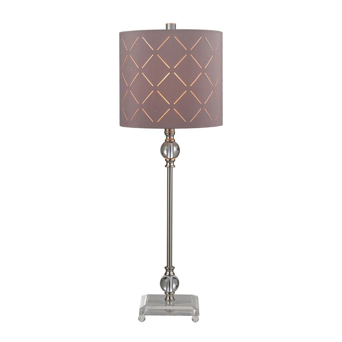 Elk Lighting D144 Table Lamp - Brushed Steel/Clear
